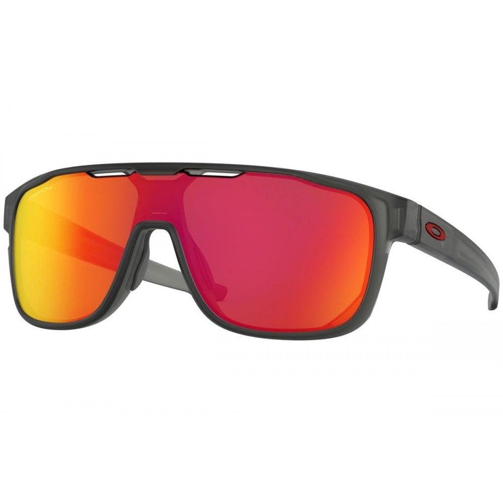 27d4eefa3 Oakley Prizm Crossrange Shield Sunglasses Matte Grey Smoke OO9387-13