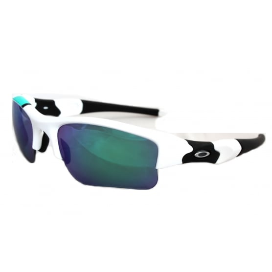 0fc51077d8 Polarized Oakley Flak Jacket XLJ Sunglasses Polished White OO9009-3163